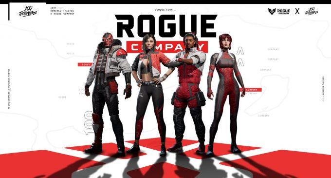 100 Thieves со карактери и скинови во играта Rogue Company