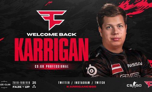 Karrigan се враќа во FaZe Clan
